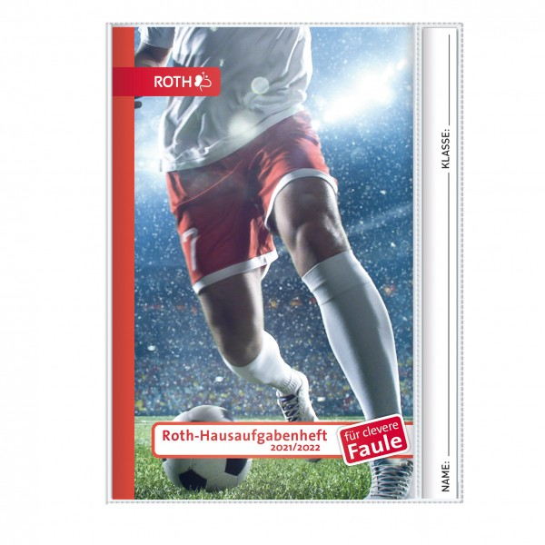 Roth-Hausaufgabenheft Superteens Fußball für clevere Faule - A5 mit Kalendarium