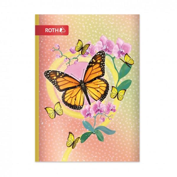 Muttiheft - Oktavheft Schmetterling - A6