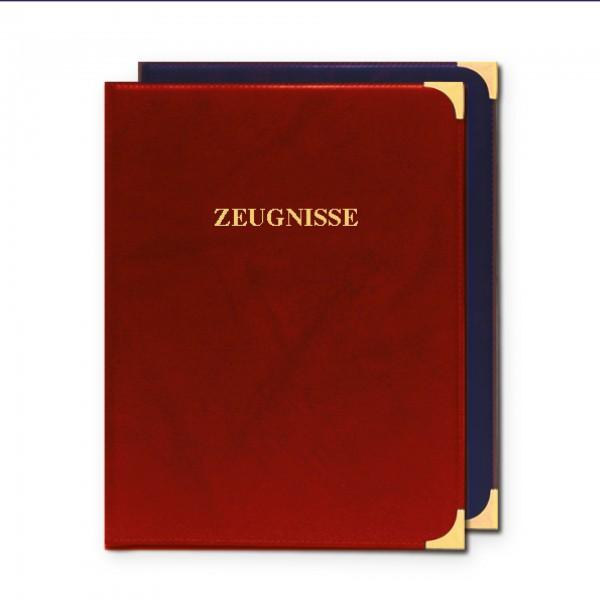 Zeugnisringbuch, A4, Kunstleder, Zierecken, ohne Einlagen, Dunkelrot