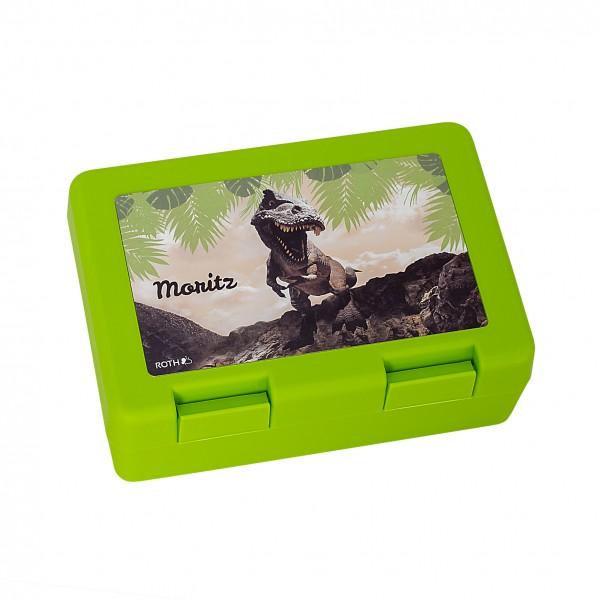 Lunchbox T-Rex, grasgrün