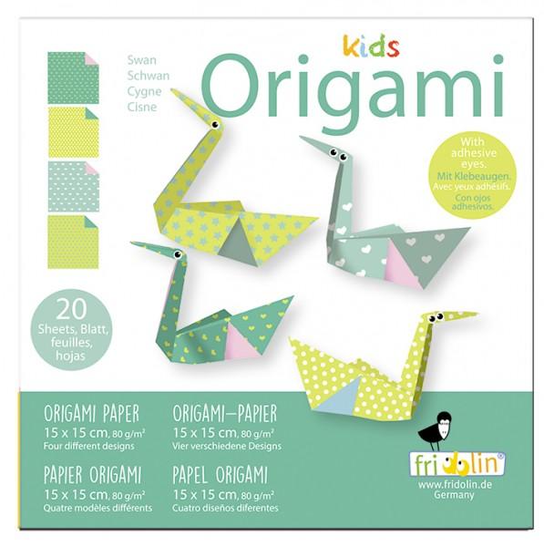 Kids Origami; Schwan