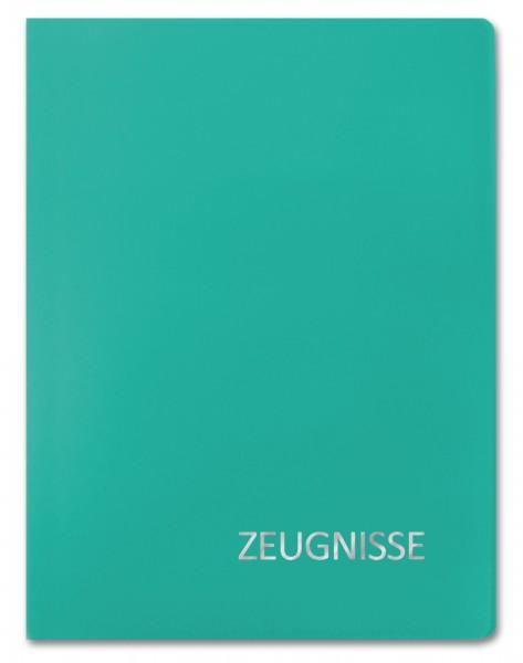Zeugnismappe Basic, A4, 20 Einlagen, Türkis