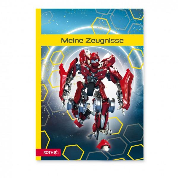 Zeugnismappe mit Design, A4, 10 Einlagen, Dynamic Robot