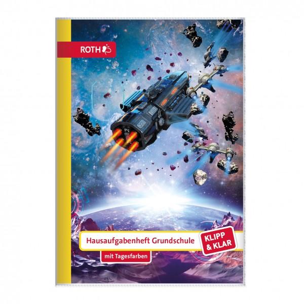 Klipp&Klar Grundschulaufgabenheft Space Fighter mit Tagesfarben