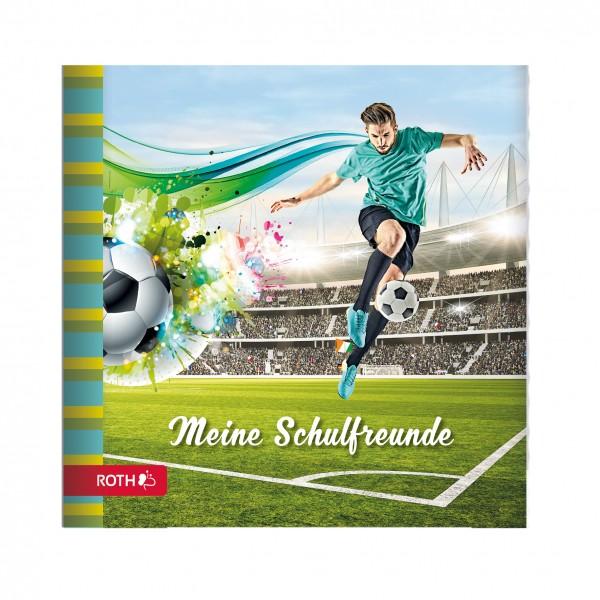 Schulanfangs-Serie Fußballstar, Freundebuch, 16,5x16,5 cm, 64 Seiten