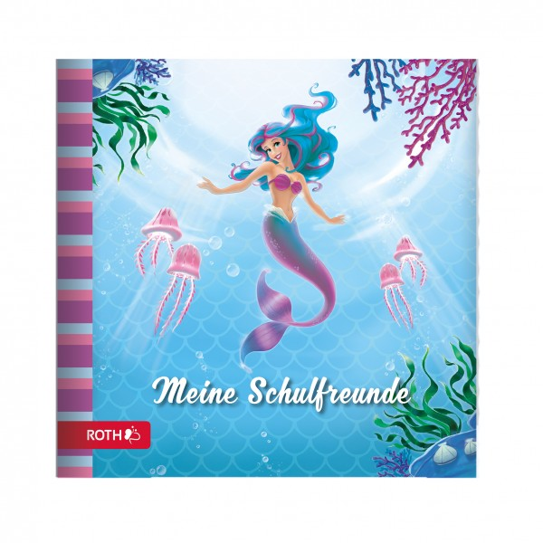 Schulanfangs-Serie Meerjungfrau, Freundebuch, 16,5x16,5 cm, 64 Seiten
